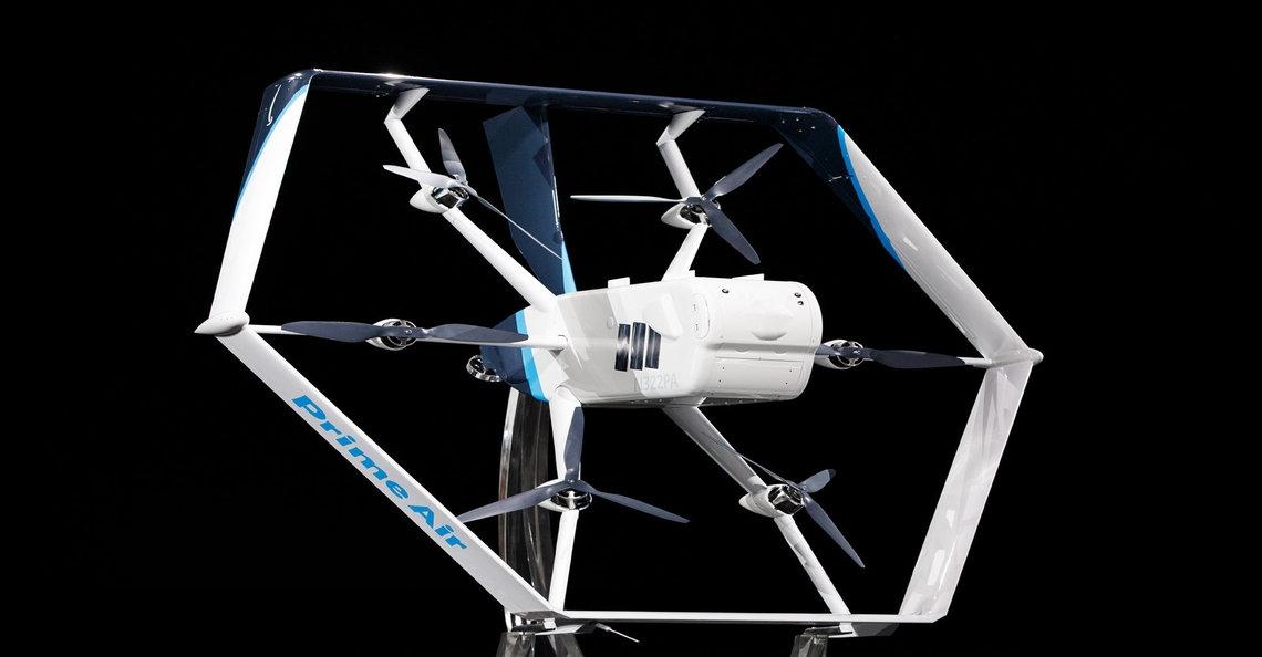 Amazon presenteert nieuwe hybride bezorgdrone