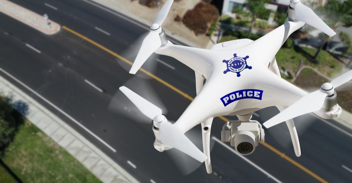 Politie Londen zet drones in om gevaarlijke weggebruikers te beboeten