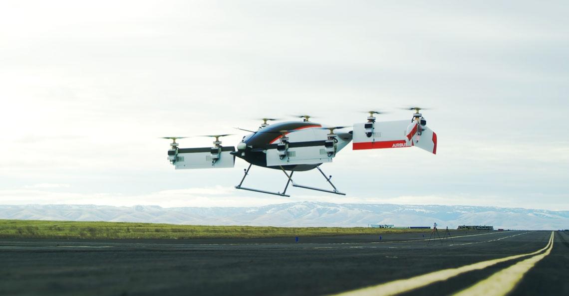 Al meer dan 100 testvluchten met Airbus Vahana drone voor persoonsvervoer
