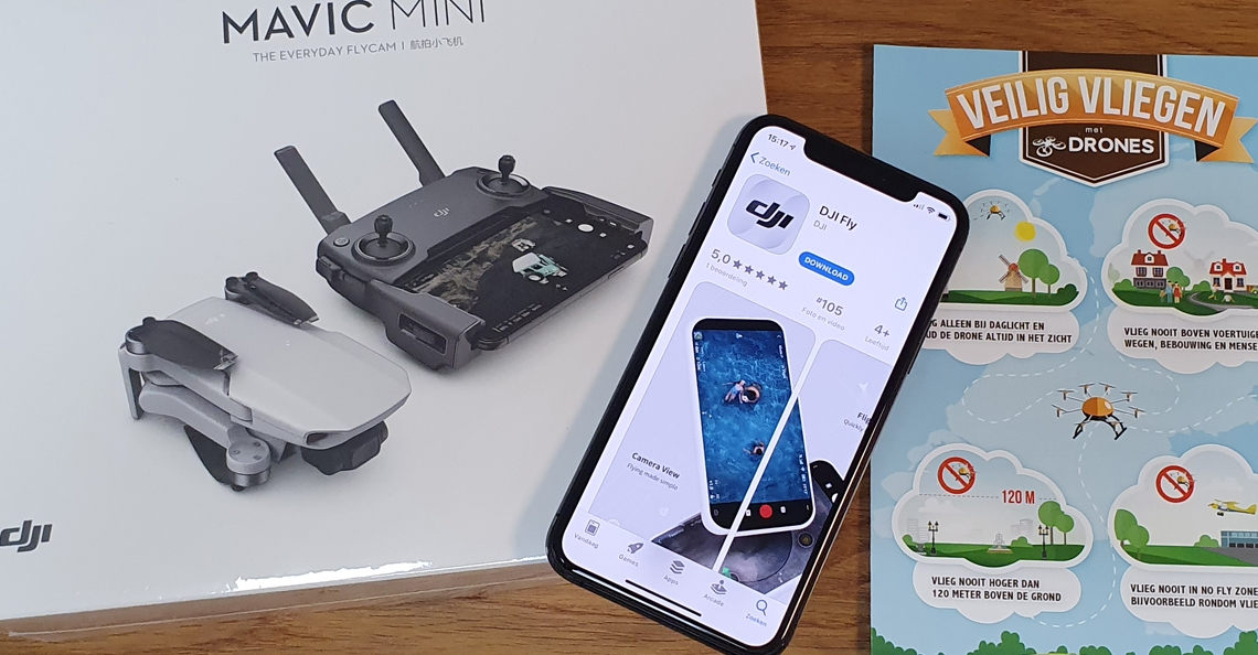Fly-app voor DJI Mavic Mini nu te downloaden