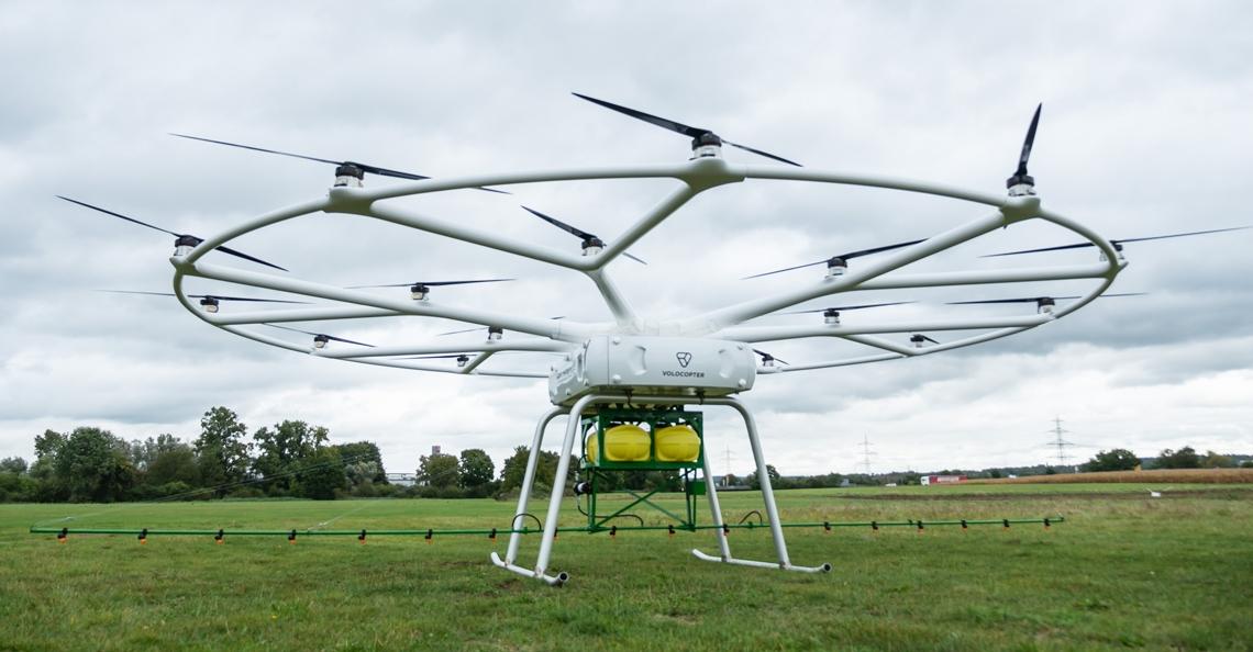 John Deere en Volocopter presenteren landbouwdrone