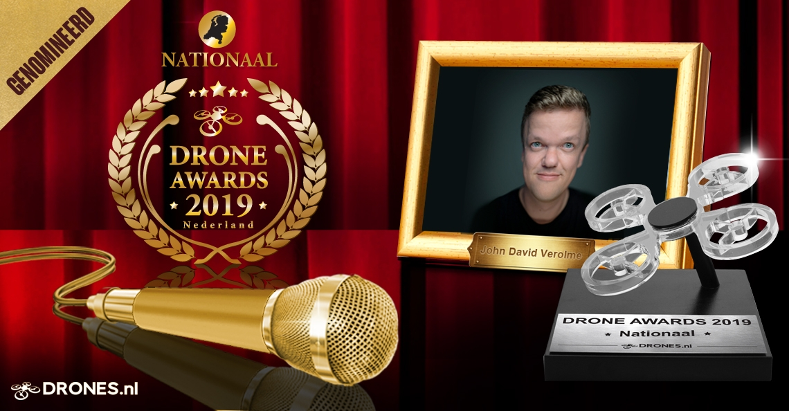 John David Verolme over zijn Drone Awards 2019 nominatie