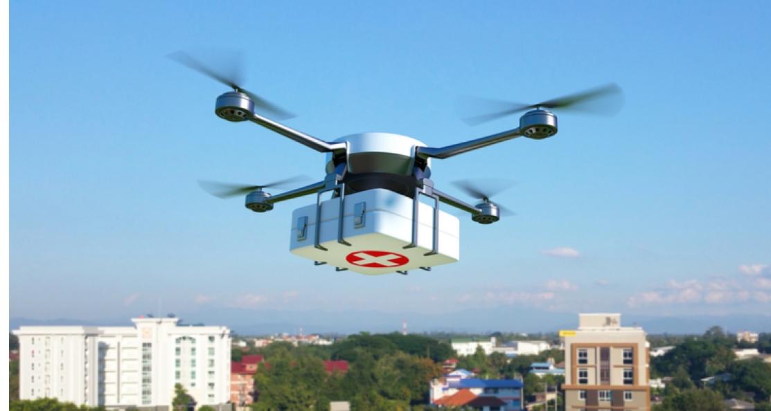 Rotterdam gaat pilot doen met medische dronebezorging