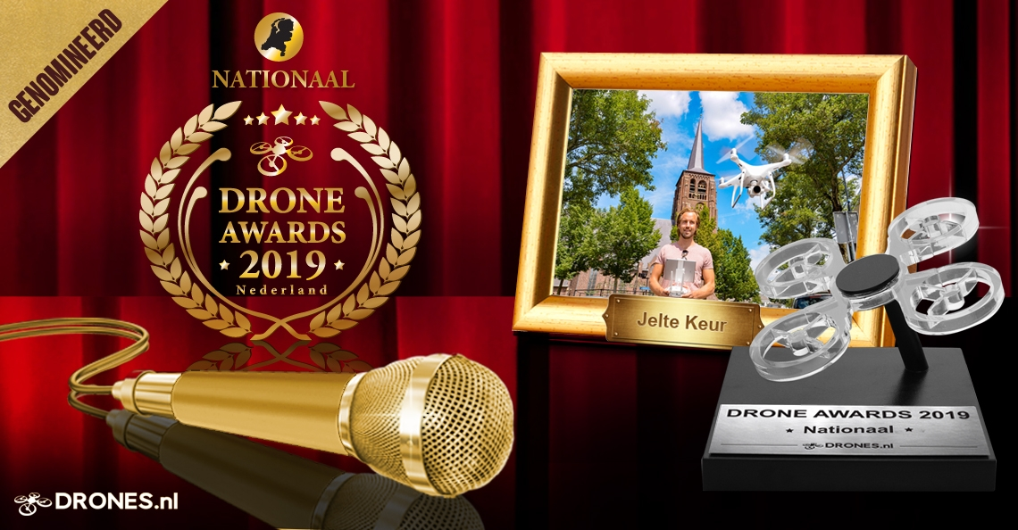 Jelte Keur over zijn Drone Awards 2019 nominatie
