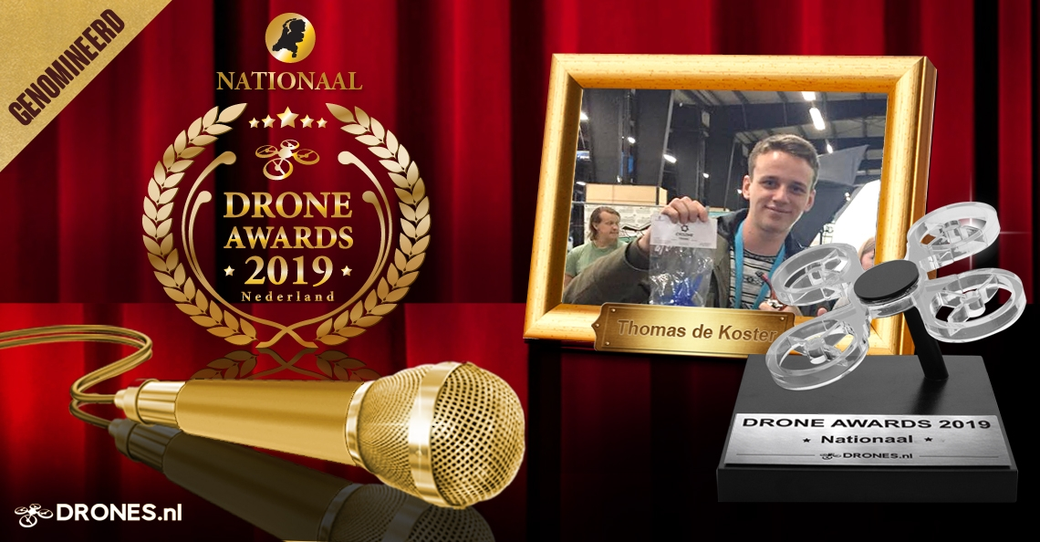 Thomas de Koster over zijn Drone Awards 2019 nominatie