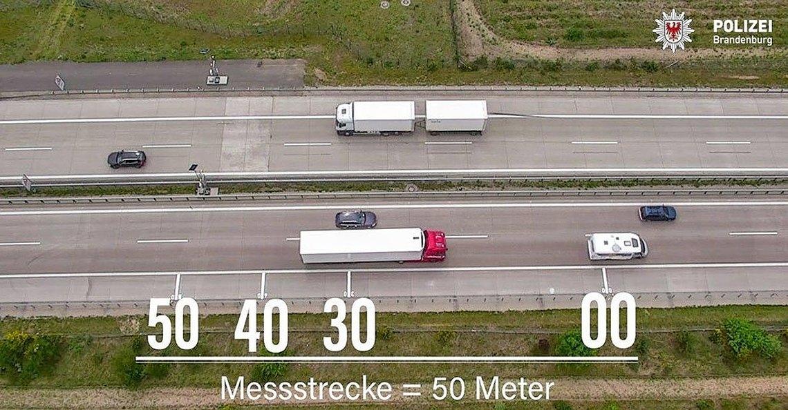 Duitse verkeerspolitie zet drone in voor handhaven minimale volgafstand tussen voertuigen