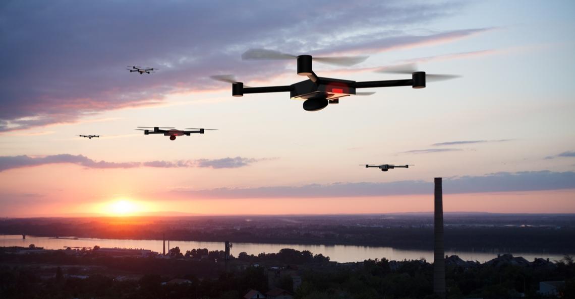 Mysterieuze zwerm drones zet politie voor een raadsel