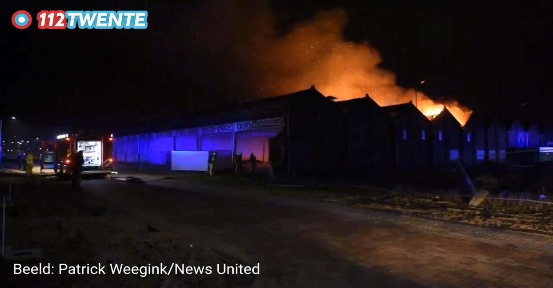 Brandweer zette drone in bij grote brand in Almelo
