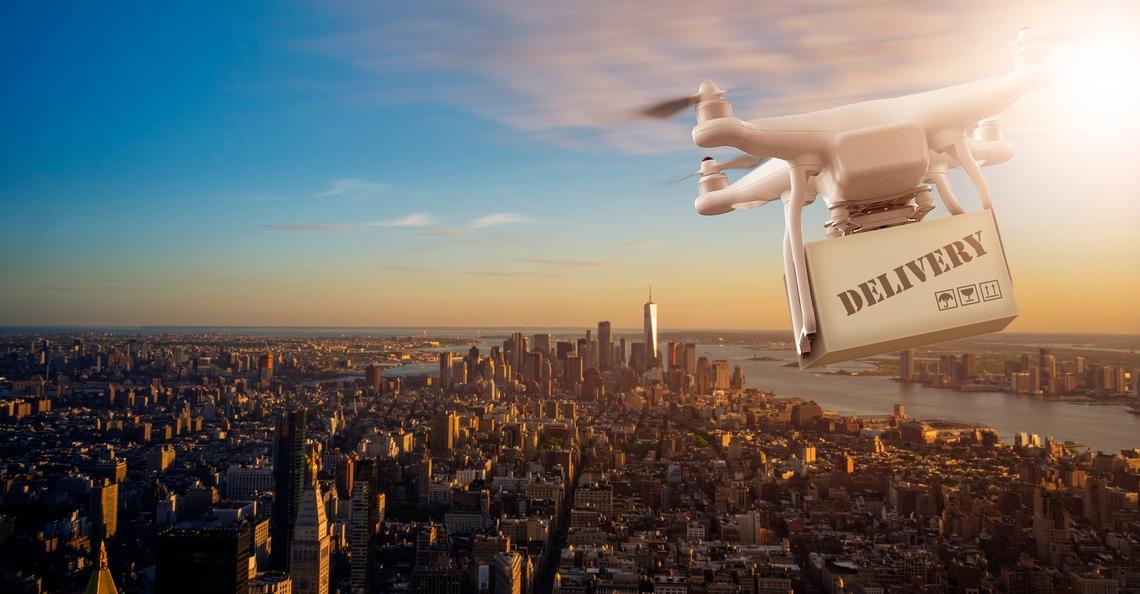 Unilever en Terra Drone bezorgen Ben en Jerry's met drones in New York
