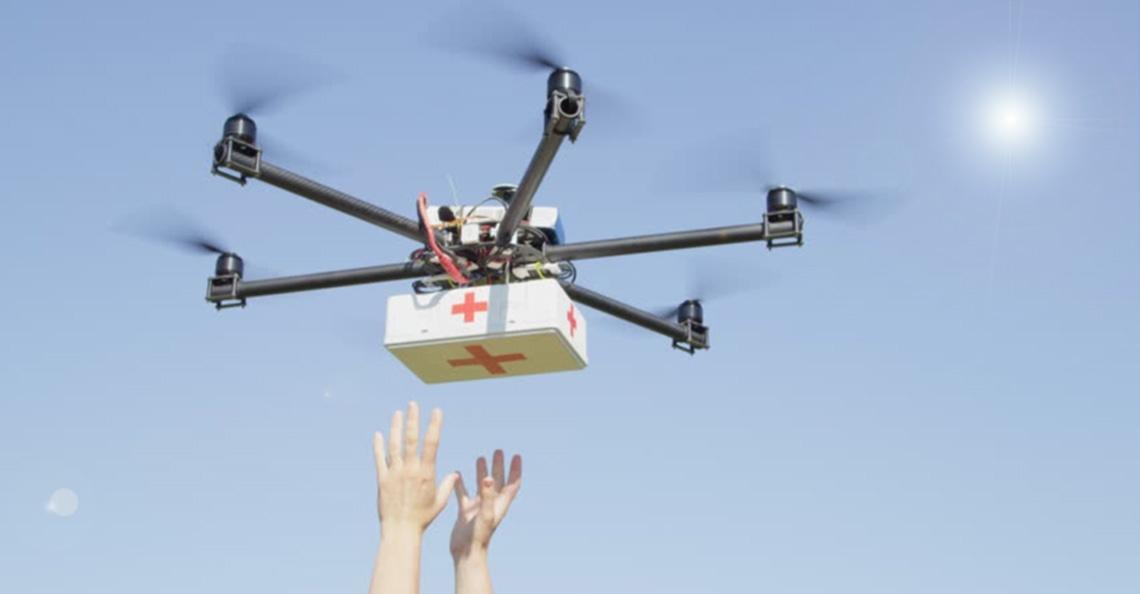 Drones bezorgen medische monsters in Hamburg