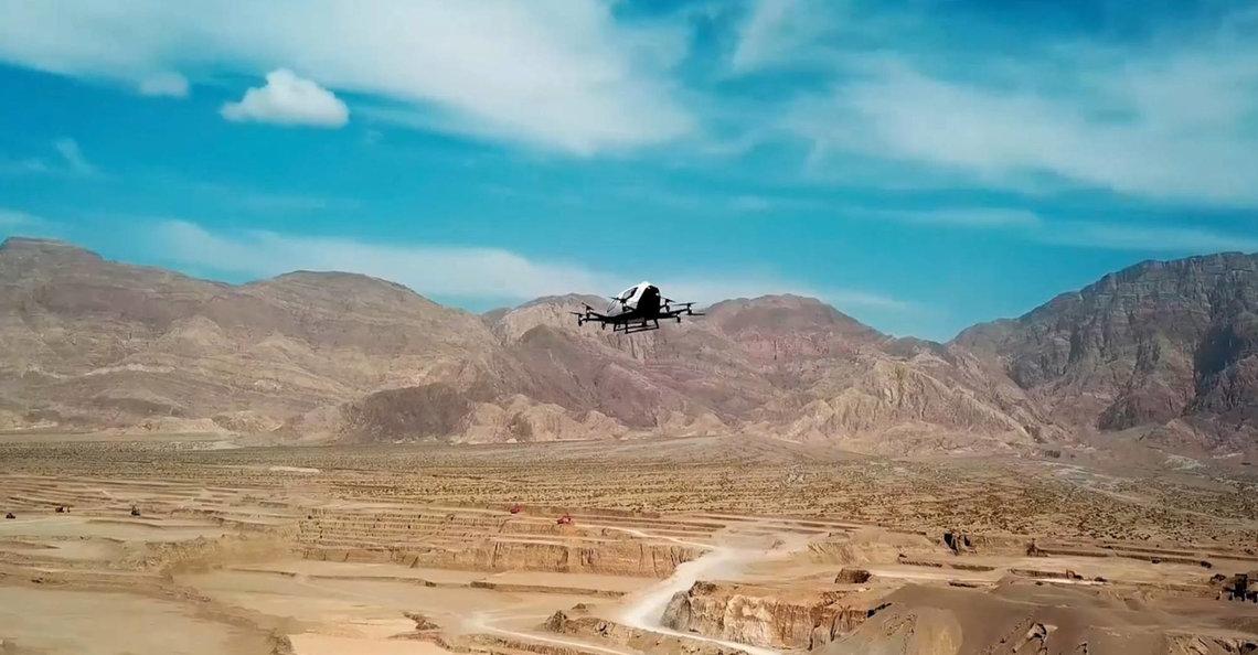 EHang start met testvluchten van zware cargodrones