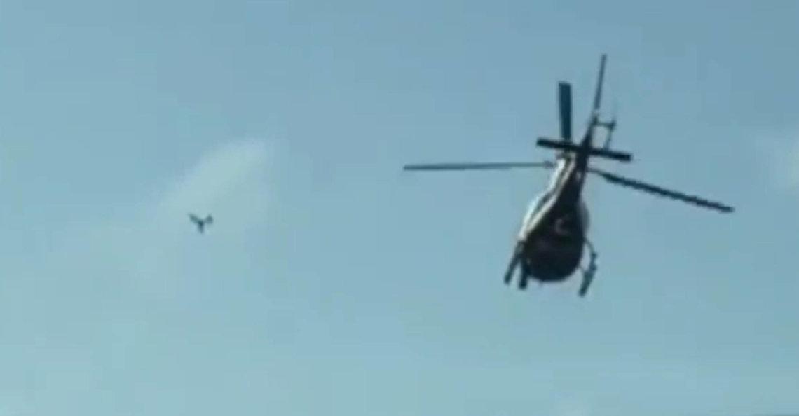 Drone botste bijna tegen politiehelikopter in Oklahoma
