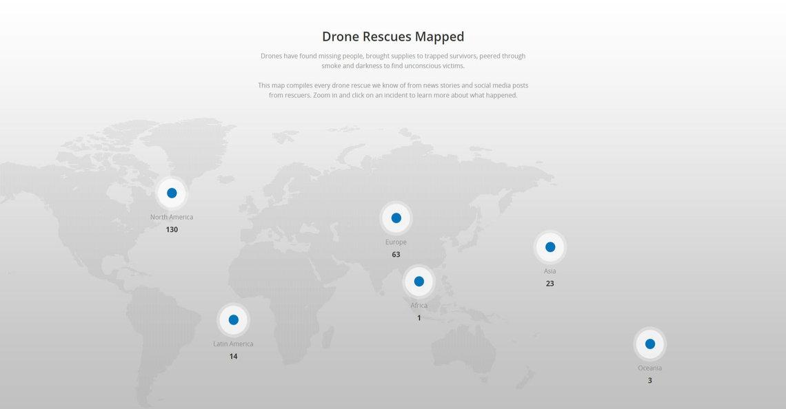 DJI lanceert interactieve kaart met reddingsacties