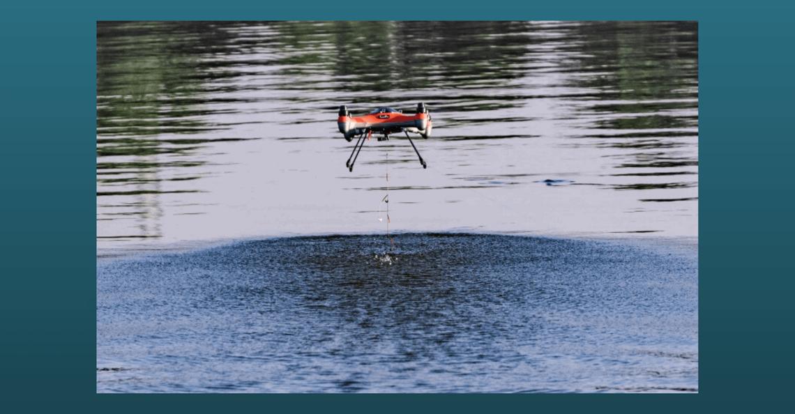 SwellPro laat je vissen met je drone