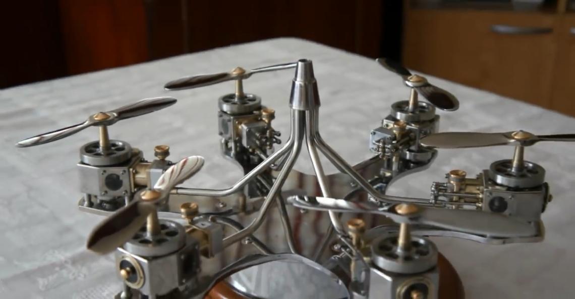 80-jarige YouTuber bouwt drone met handgemaakte onderdelen