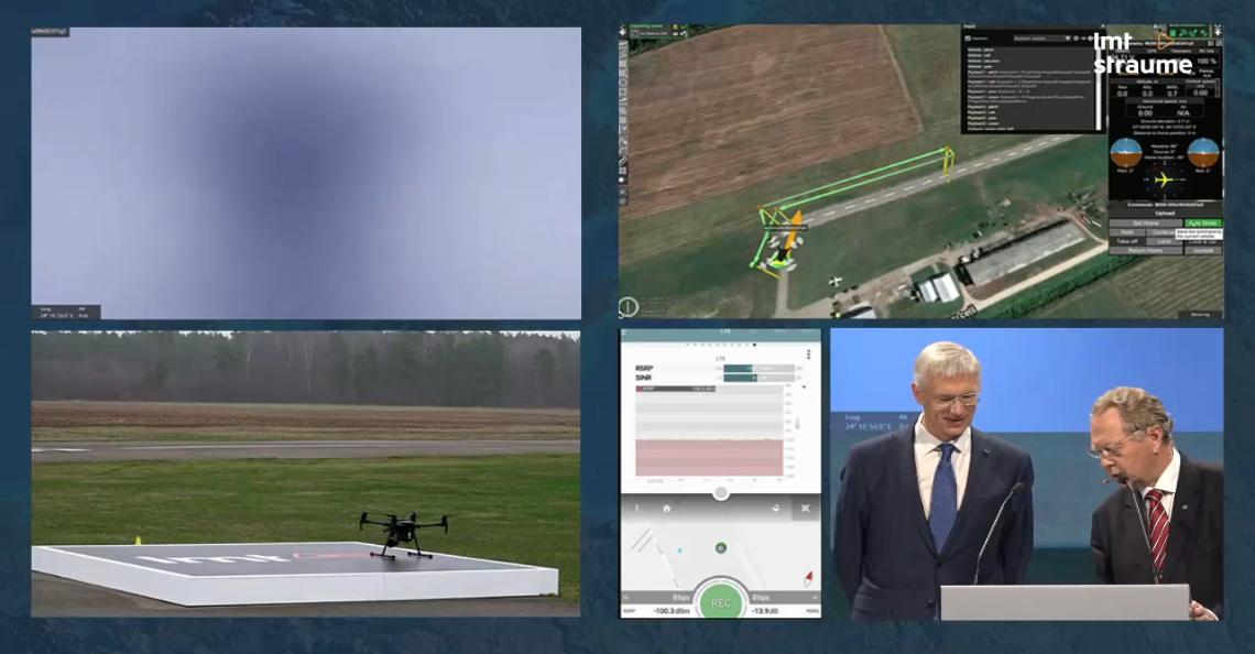 Eerste cross-border 5G-dronevlucht boven Letland voltooid