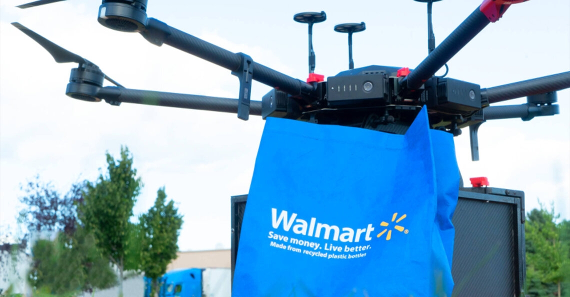 Walmart start met dronebezorging in North Carolina