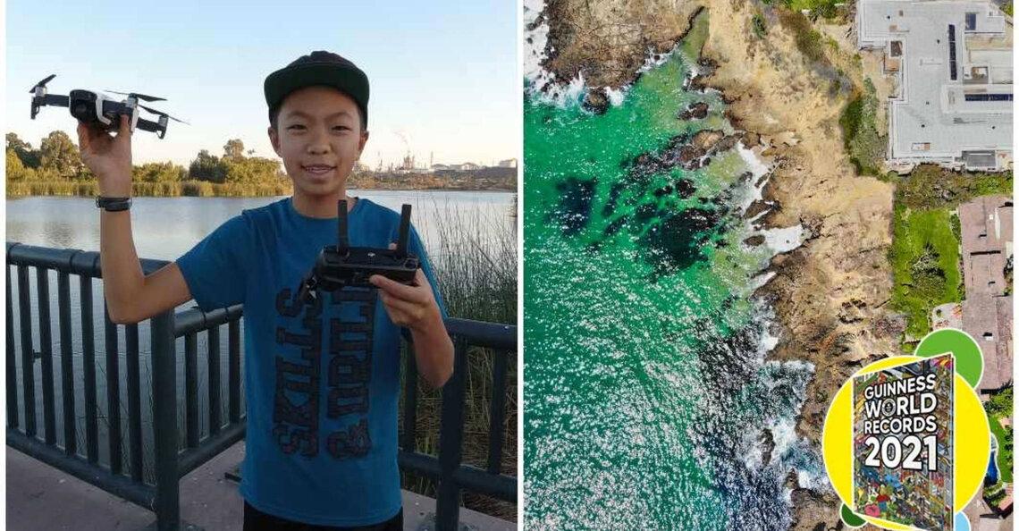 Nathan Lu opgenomen in Guinness-wereldrecordlijst als jongste drone-cartograaf