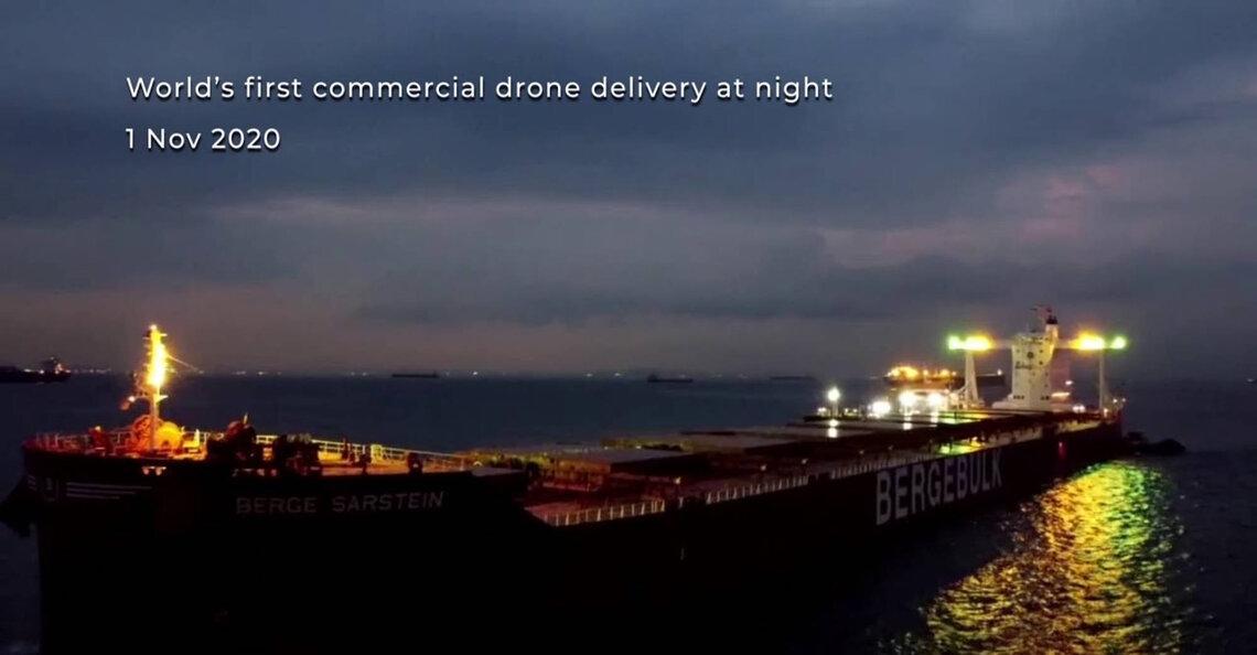 F-Drones voert eerste nachtelijke commerciële bezorging per drone uit