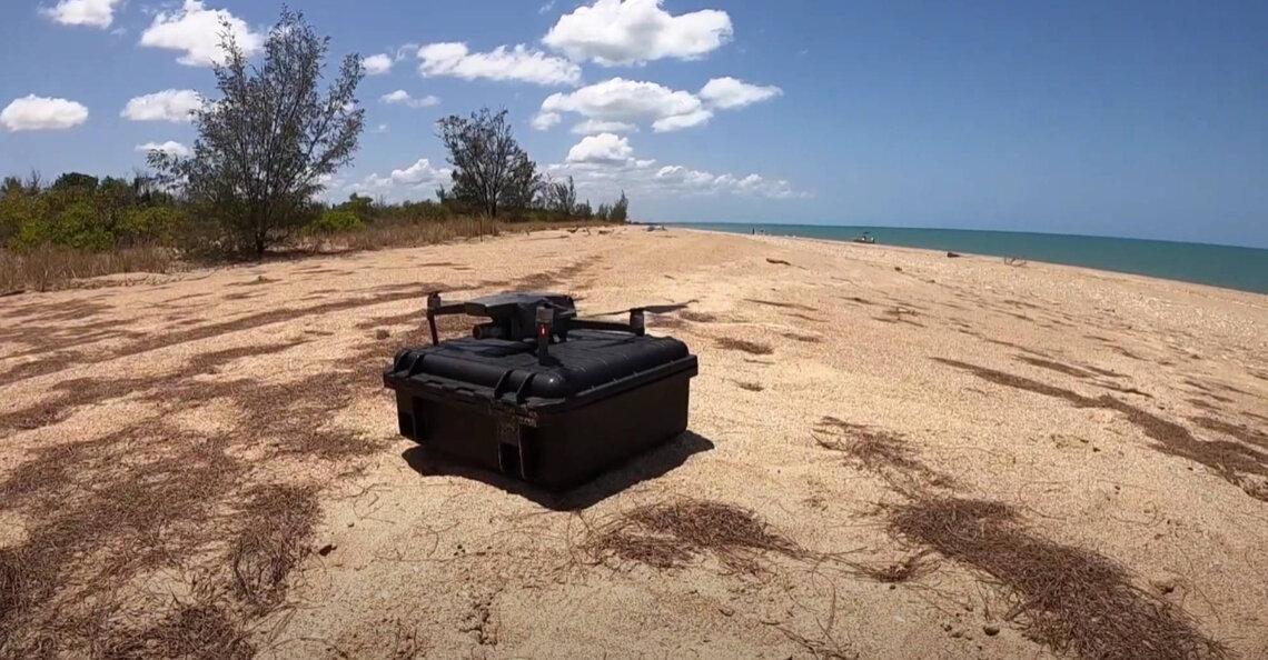 Onderzoekers zetten drones in voor opsporen gevaarlijke kwallen