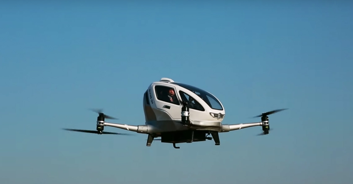 EHang bezorgt rijst per drone in Zuid Korea