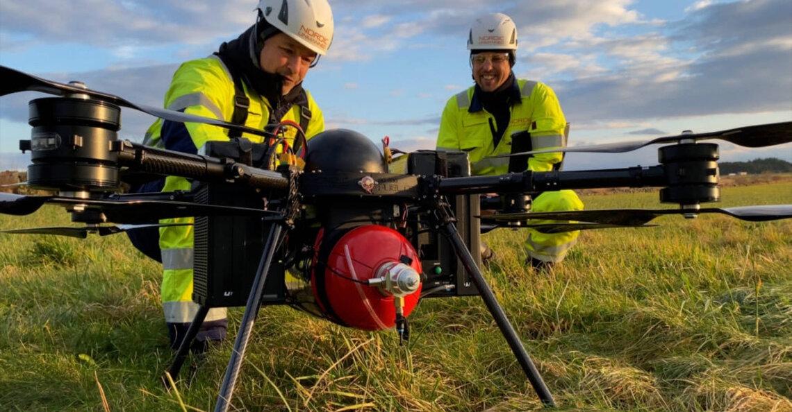 Noorse wetenschappers testen waterstofdrone