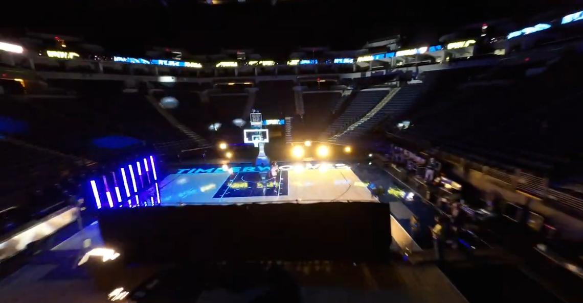NBA-team maakt stijlvolle dronevideo om wedstrijd te promoten