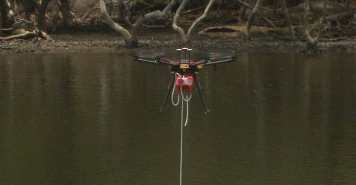 Sydney test waterkwaliteit met drone
