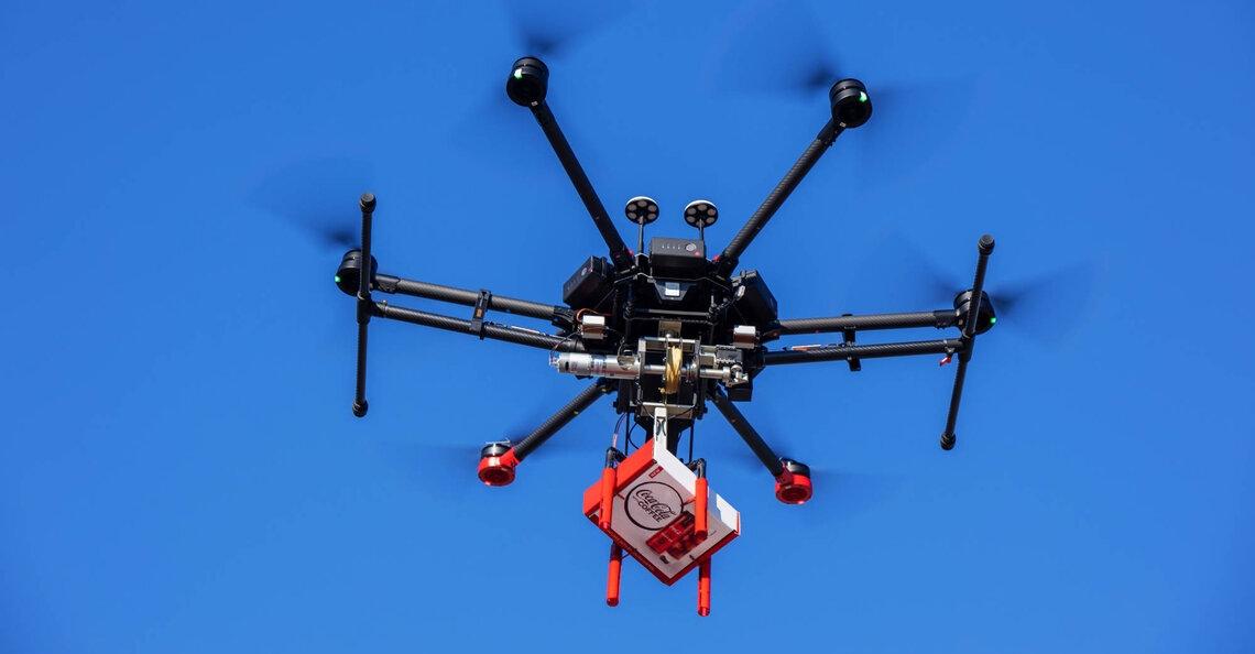 Coca Cola en Walmart bezorgen cola per drone