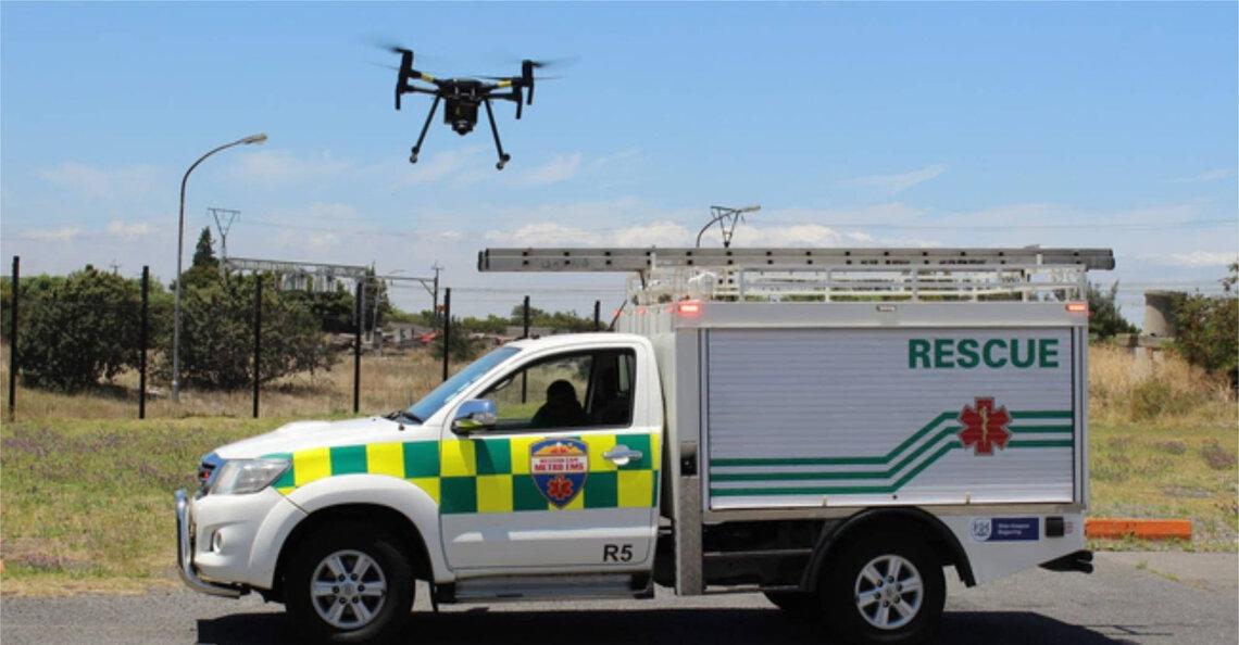 Drone helpt bij redding wandelaar gestrand op Tafelberg