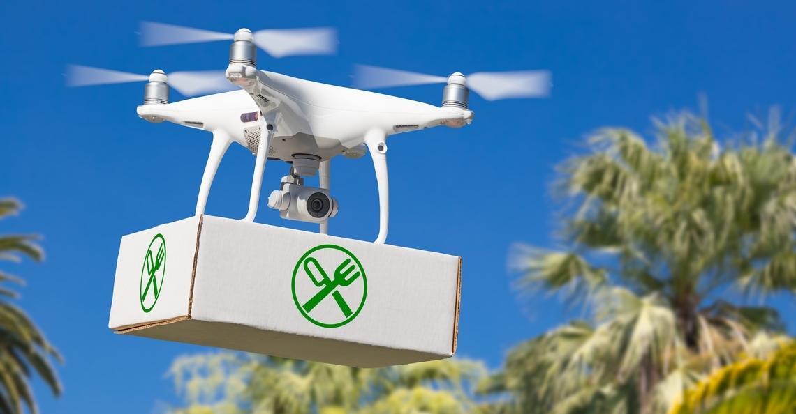 Just Eat begint met bezorging per drone in Ierland