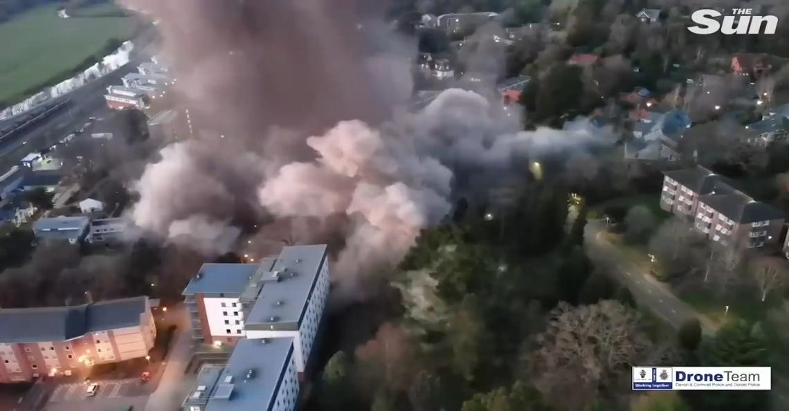 Drone filmt detonatie oude nazi-bom
