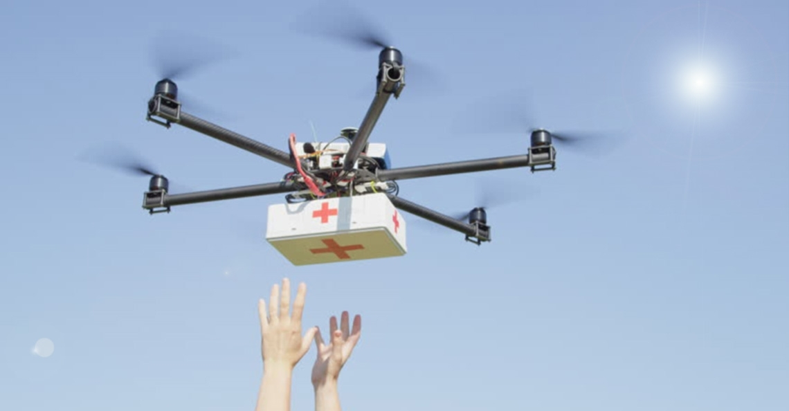Skyfarer en O2 starten testfase medische dronebezorging
