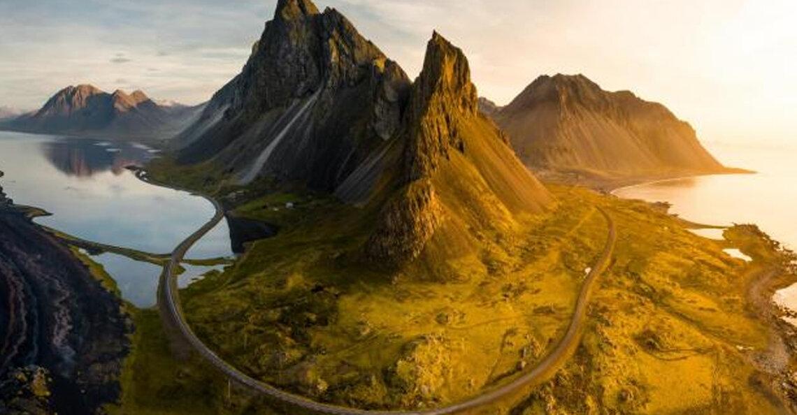 Drone-fotograaf maakt verbluffende beelden van roadtrip door Ijsland