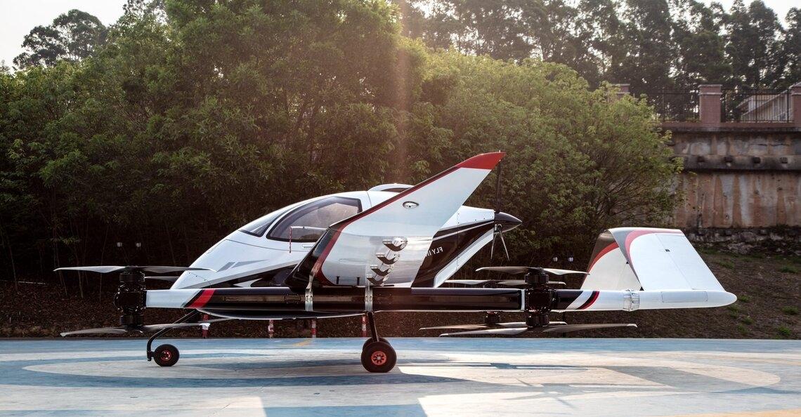 EHang ontwikkelt  nieuwe 2-personen dronetaxi voor intercity reizen