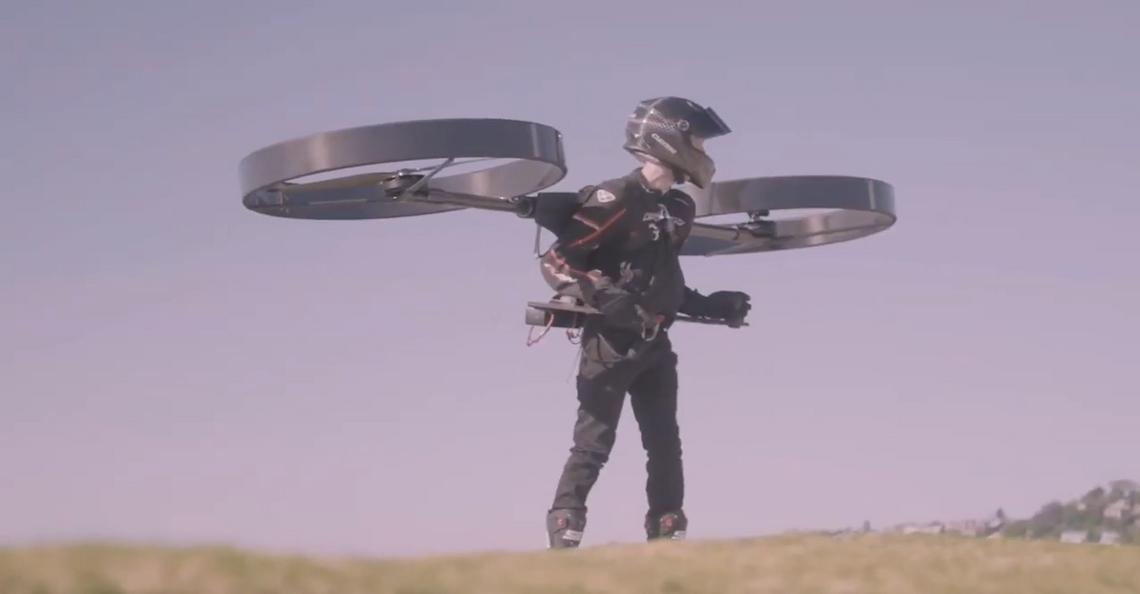 CopterPack laat mensen opstijgen als een drone