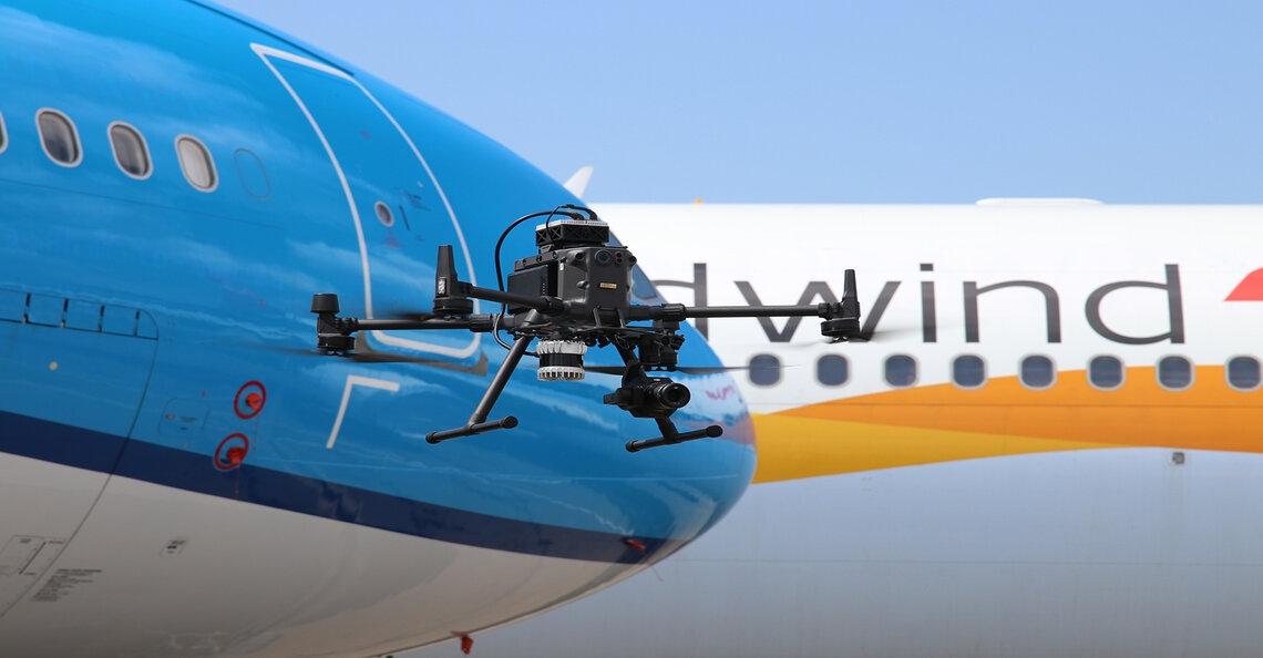 Europese primeur met drone-inspectie op vliegbasis Woensdrecht