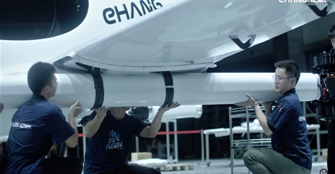 EHang geeft uitgebreide videotour door luchttaxi fabriek
