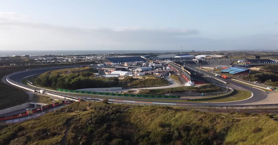 Dronebeelden tonen Circuit Zandvoort in volle glorie