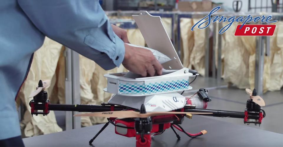 Singapore ziet heil in pakketbezorging met drones