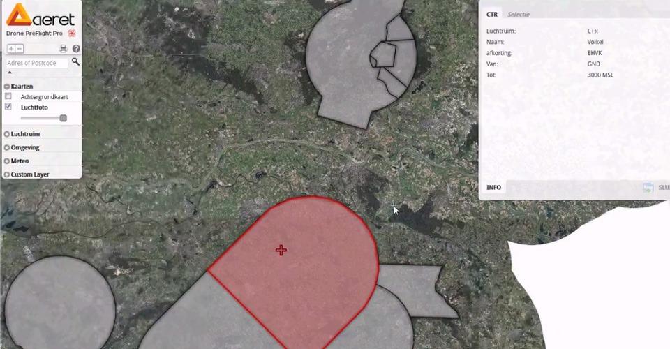Vermijd no-fly zones met Drone PreFlight
