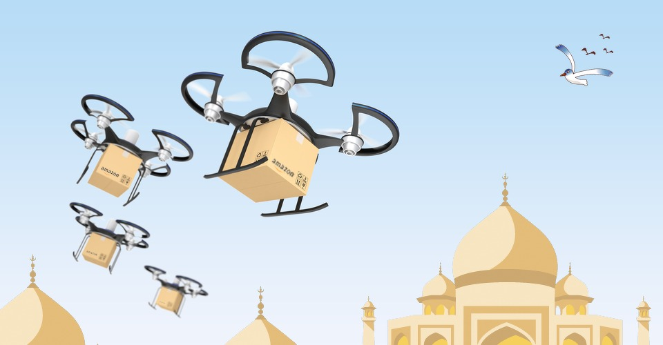 Amazon start in India met bezorging via drones
