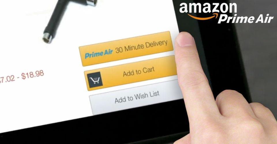 Amazon bezorgt binnen een jaar per drone