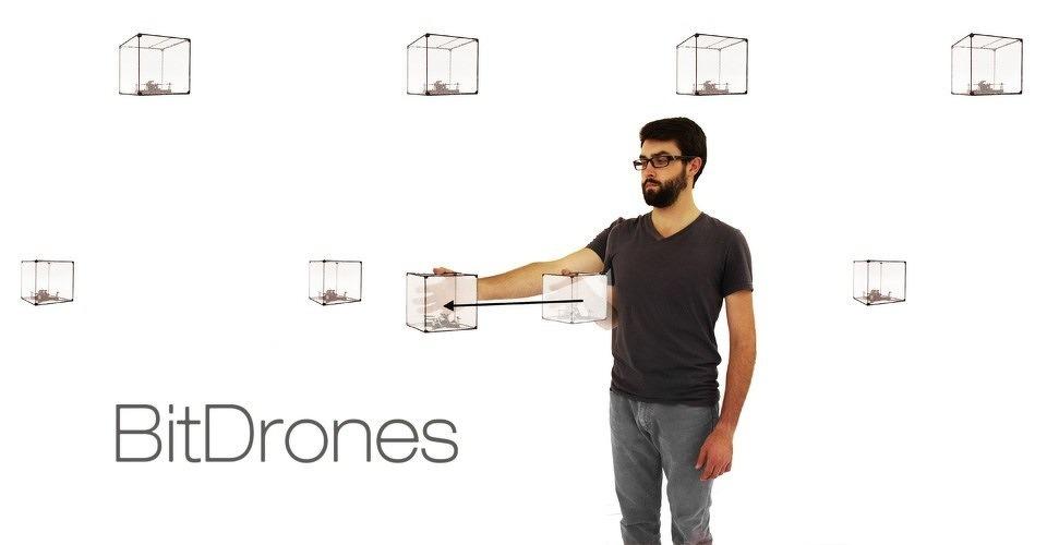 BitDrones: virtuele interactie met zwevende elementen