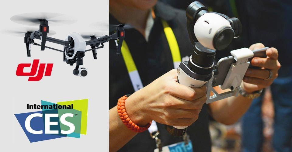 DJI toont handheld mount voor Inspire 1 camera op CES