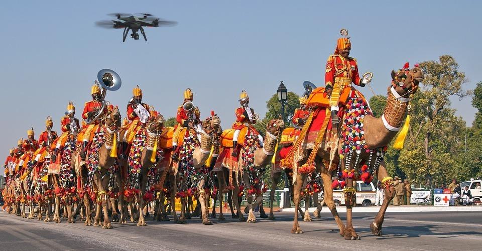 Politie New Delhi koopt drones voor dag van de Republiek