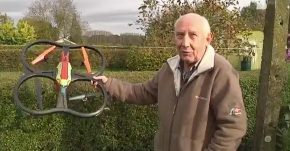 Hasselaar vindt drone in tuin