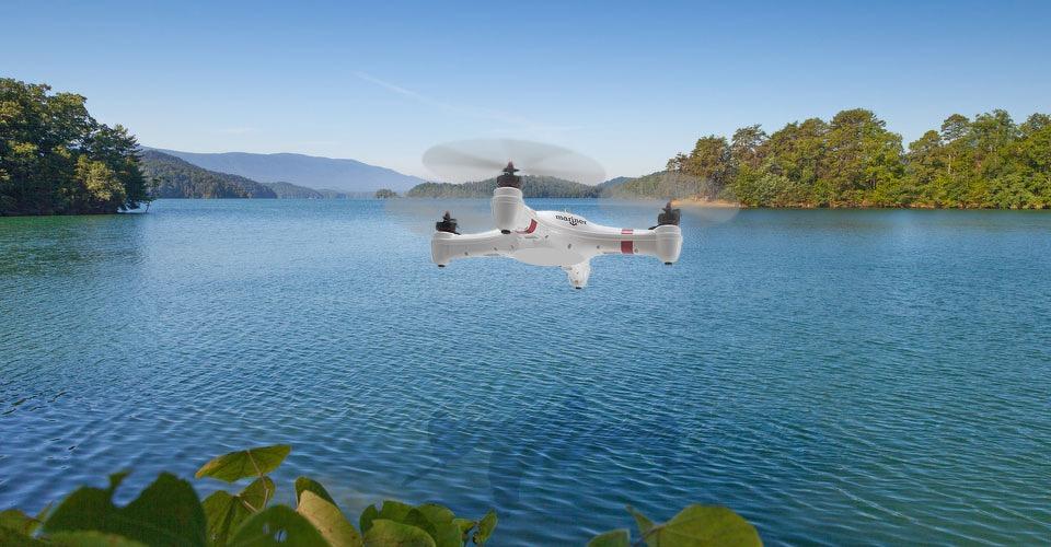 Watermonsters verzamelen met drones