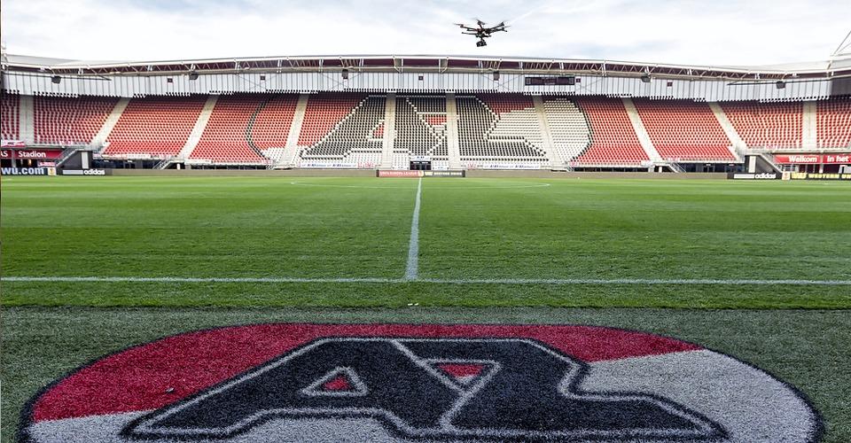 AZ gebruikt drone voor spelanalyse training