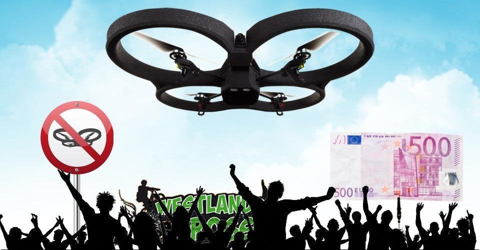 Dronevlieger koopt vervolging af met 500 euro